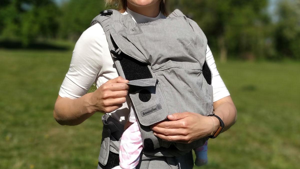 Die Bondolino bietet eine praktische Tasche und eine Sonnenschutzkapuze