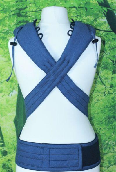 Die Schultergurte sind bis in den oberen Schulterbereich hinein gepolstert
