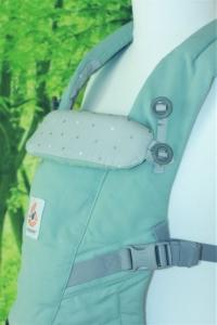 Die gepolsterte, zweistufig verstellbare Kopfstütze
