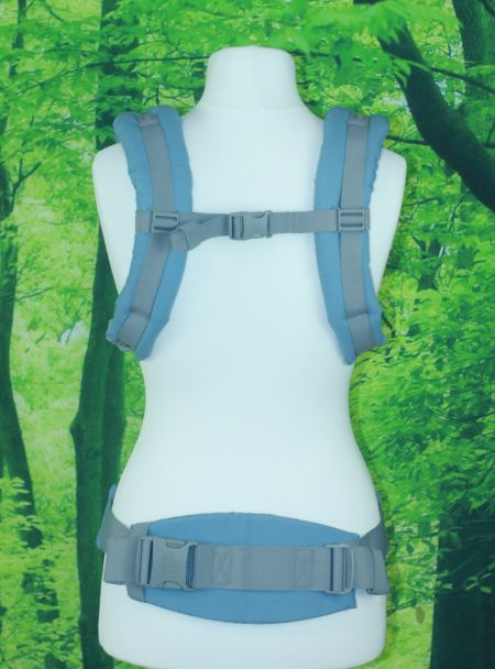 Die Schultergurte sind gut gepolstert und können auch überkreuzt getragen werden